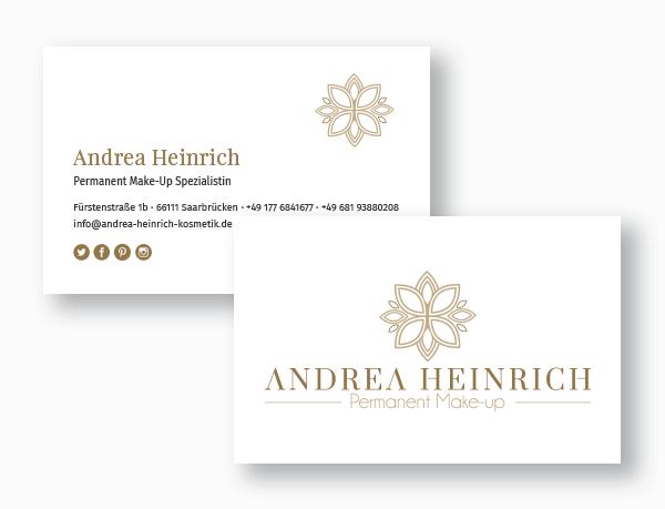 Visitenkarten Andrea Heinrich Permanent Makeup