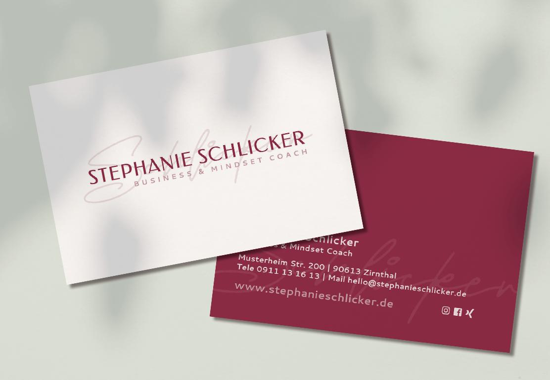 Visitenkarten Stephanie Schlicker