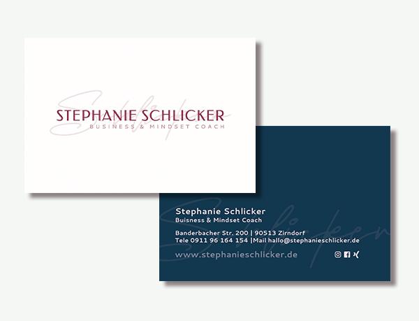 Visitenkarten Feminin Soulbusiness Coach