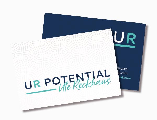 Ur Potential Visitenkarten Logo Design